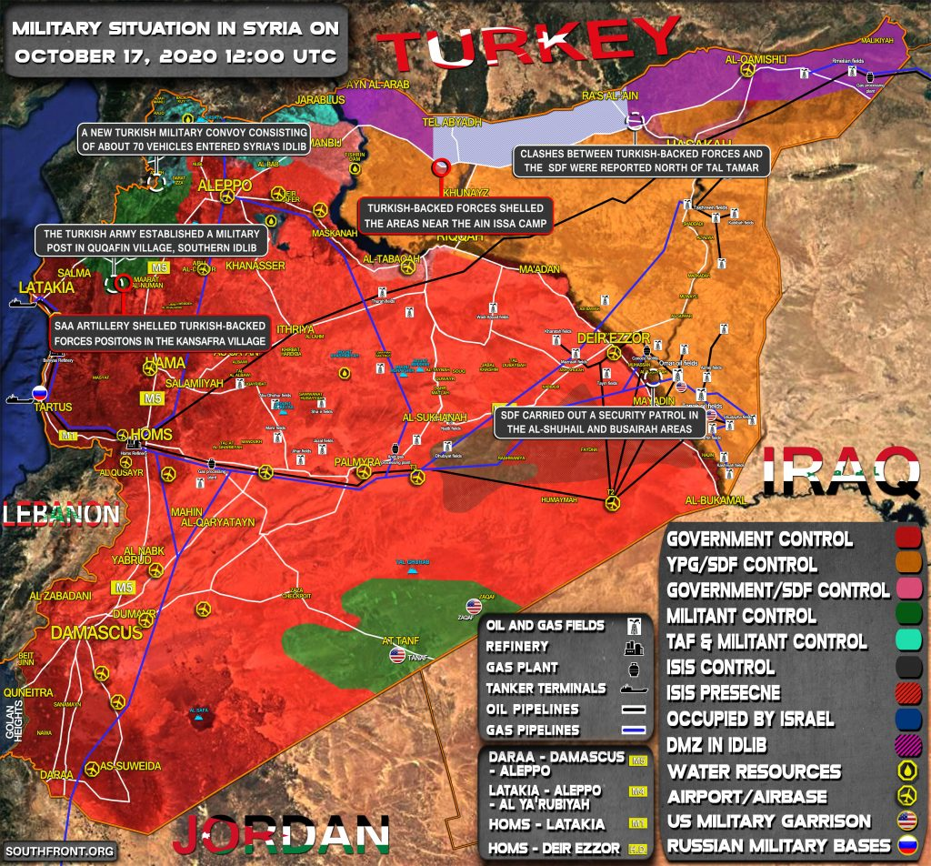 Military Situation In Syria On October 17, 2020 (Map Update)