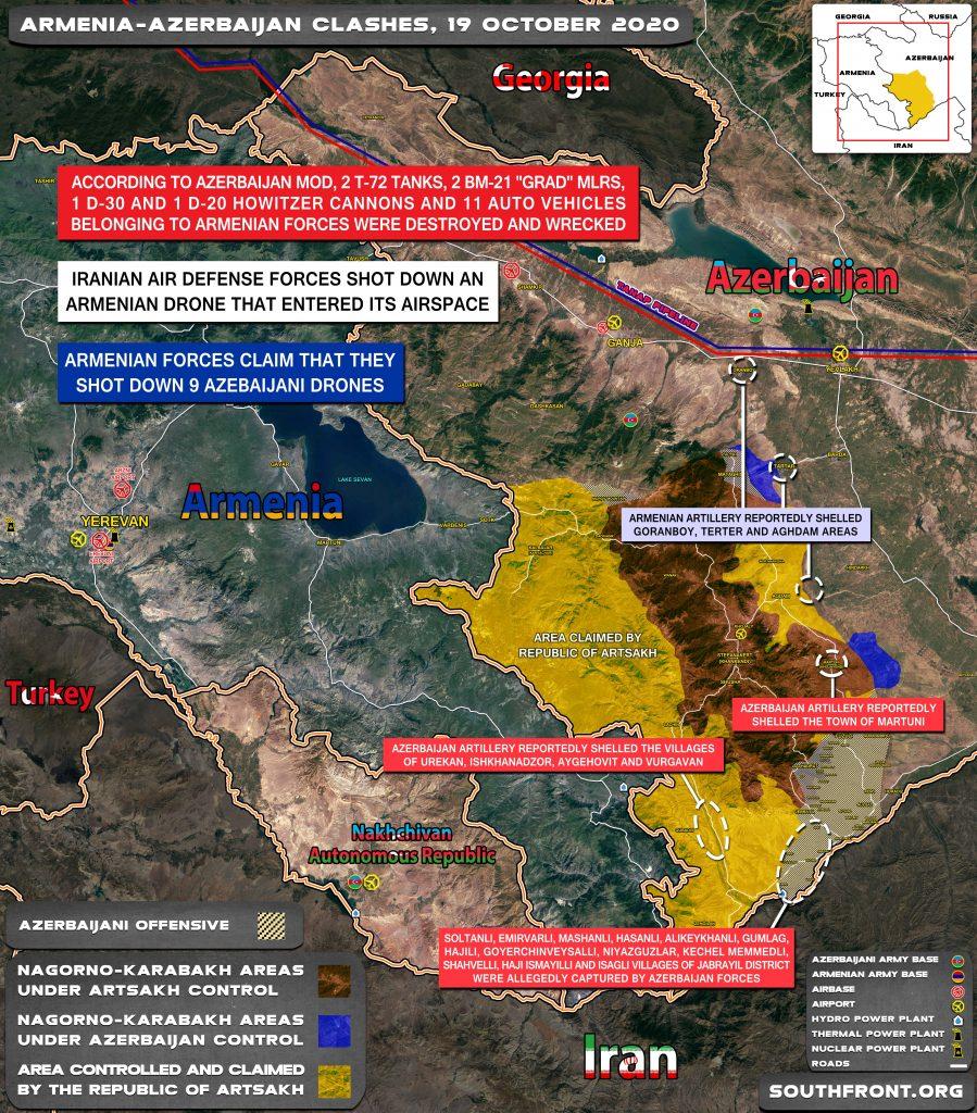 Map Update: Armenian-Azerbaijani War On October 19, 2020