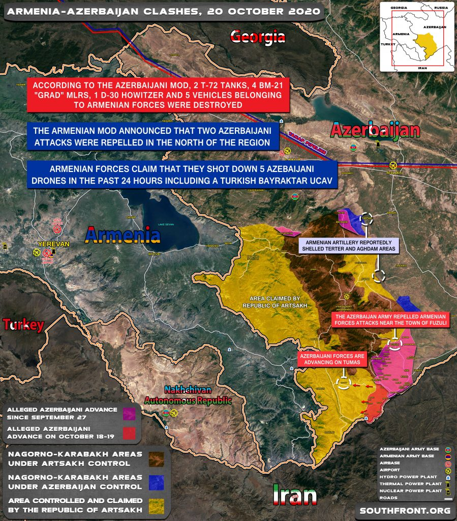 Armenia Declares Large-Scale Counter-Attack In Southern Karabakh As Ilham Aliyev Makes Victorious Address To Nation