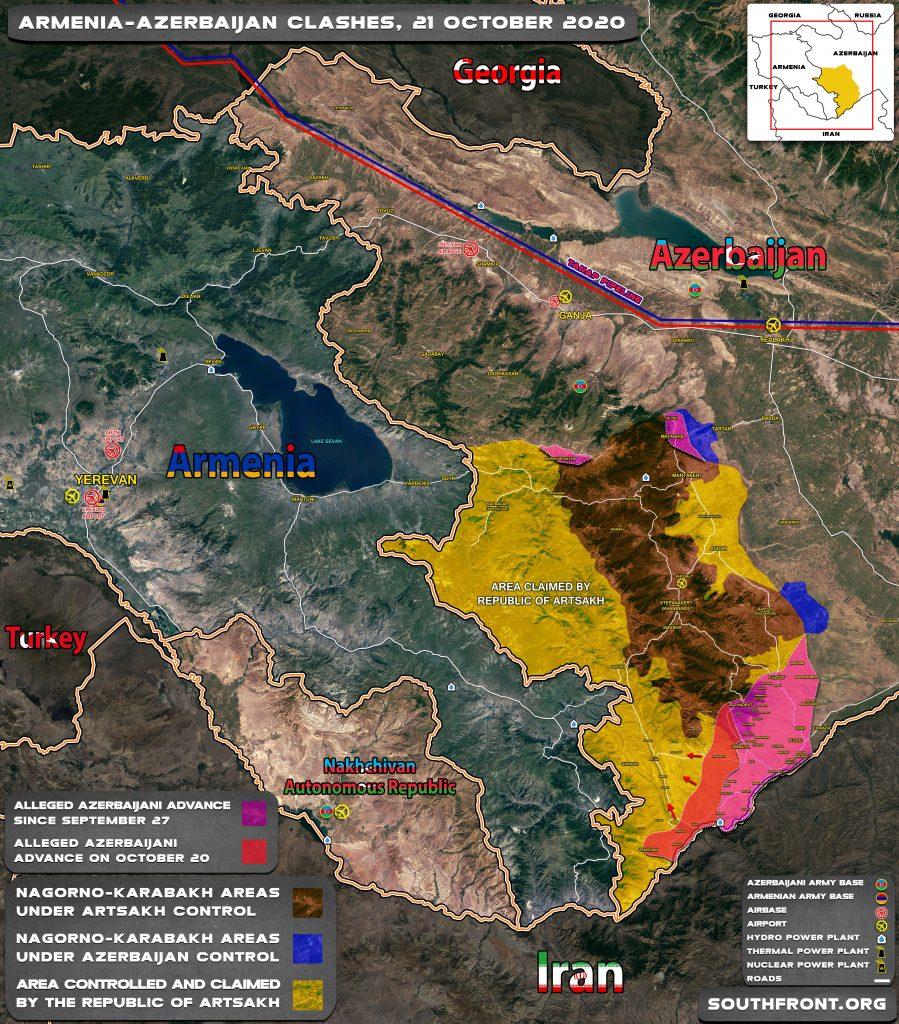 Map Update: Azerbaijani Forces' Advance In Nagorno-Karabakh Region September 27-October 21, 2020