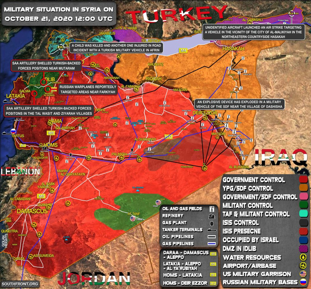Military Situation In Syria On October 21, 2020 (Map Update)