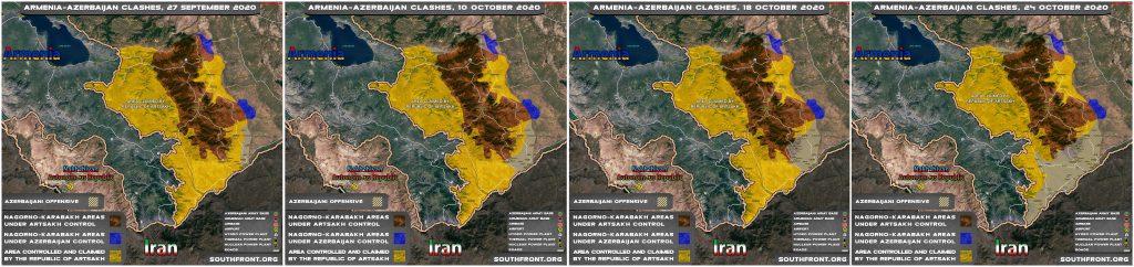 Map Comparison: Azerbaijani Gains In War With Armenia In Nagorno-Karabakh Region