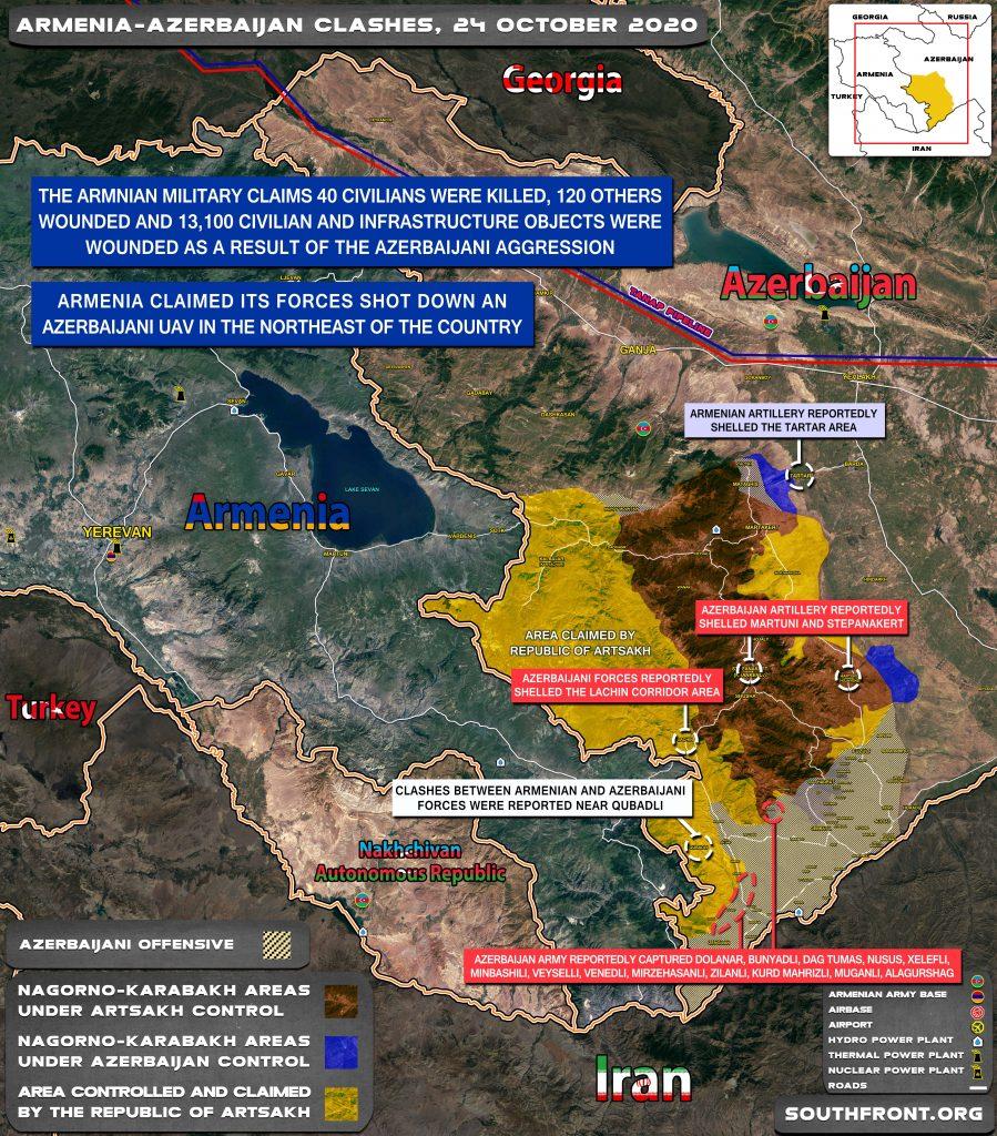 Armenian-Azerbaijani War: Military Situation In Nagorno-Karabakh On October 24, 2020