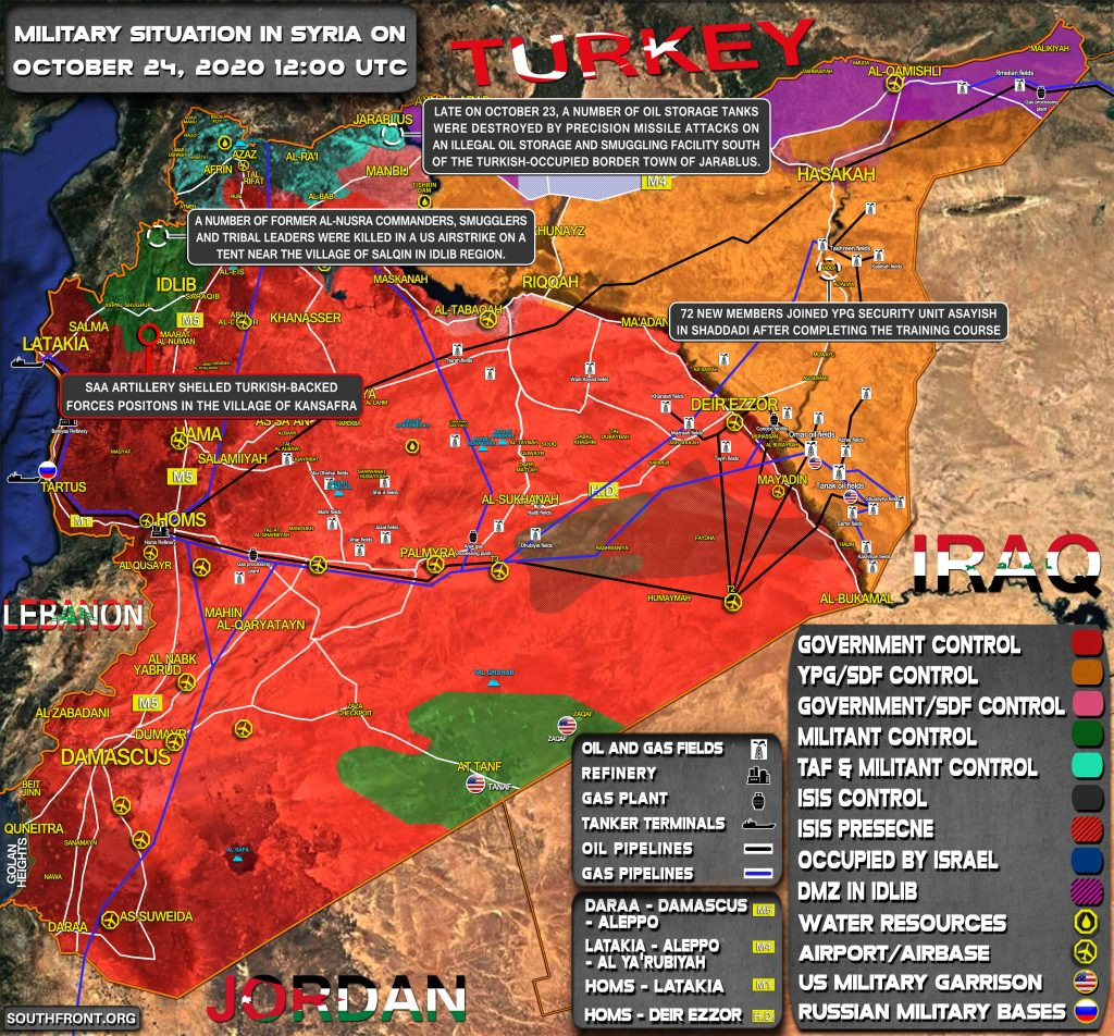 Military Situation In Syria On October 24, 2020 (Map Update)