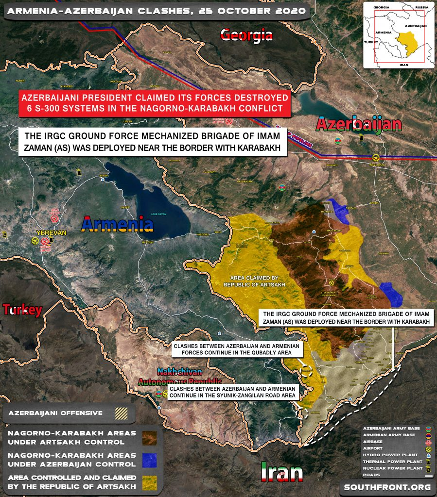 Armenian-Azerbaijani War: Military Situation In Nagorno-Karabakh On October 25, 2020