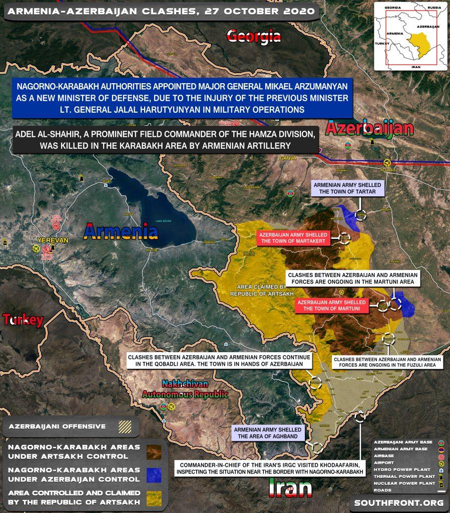 Armenian-Azerbaijani War: Military Situation In Nagorno-Karabakh On October 27, 2020