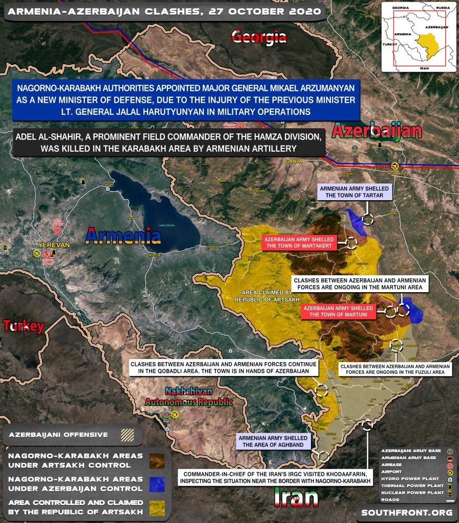 Armenian-Azerbaijani War: Military Situation In Nagorno-Karabakh On October 27, 2020