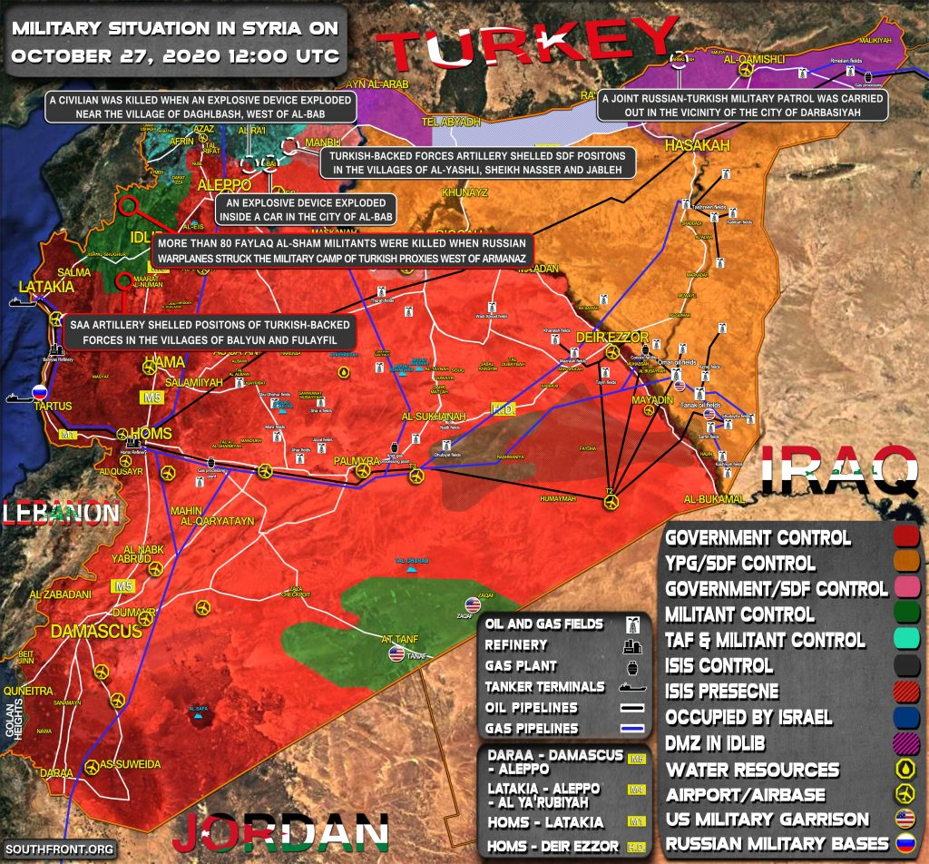 Military Situation In Syria On October 27, 2020 (Map Update)