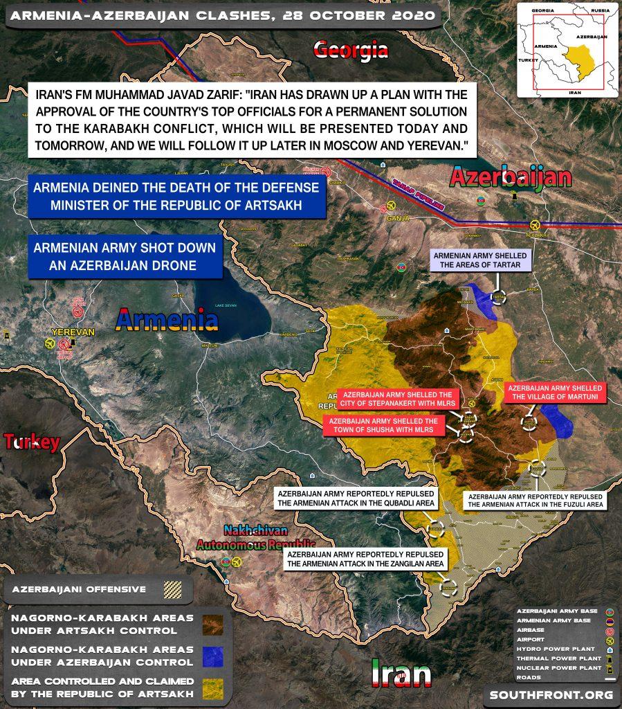 Armenian-Azerbaijani War: Military Situation In Nagorno-Karabakh On October 28, 2020
