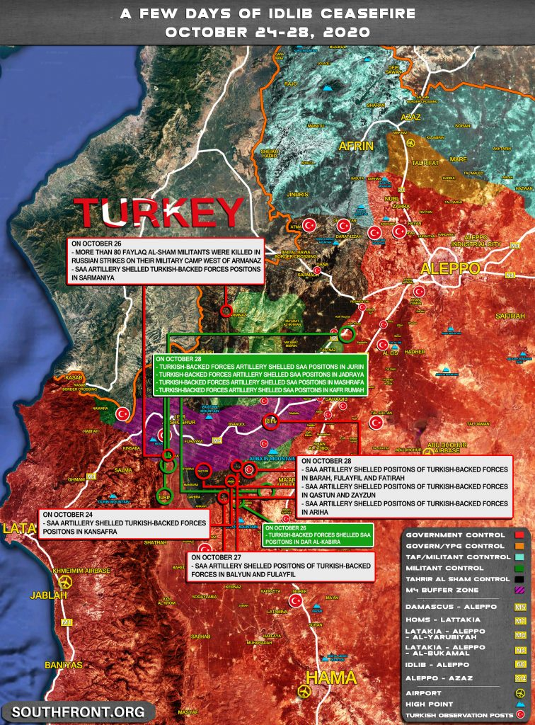 Map Update: Real Face Of 'Ceasefire Regime' In Syria's Greater Idlib