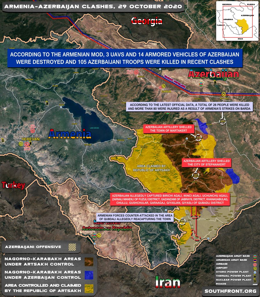 Armenian-Azerbaijani War: Military Situation In Nagorno-Karabakh On October 29, 2020