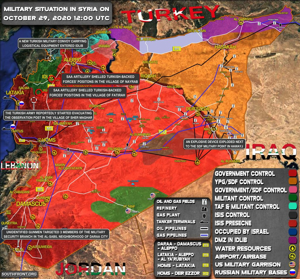 Military Situation In Syria On October 29, 2020 (Map Update)