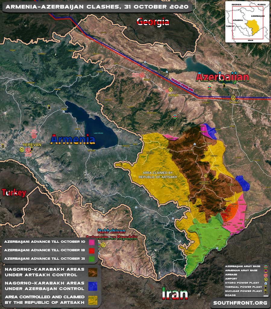Map Update: Progress Of Azerbaijani Advance In Karabakh And Failed Ceasefires