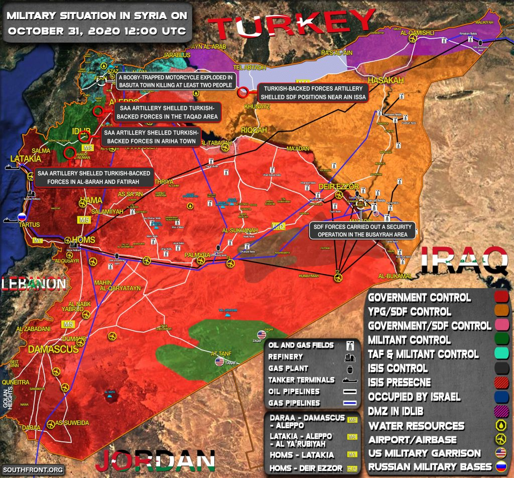 Military Situation In Syria On October 31, 2020 (Map Update)