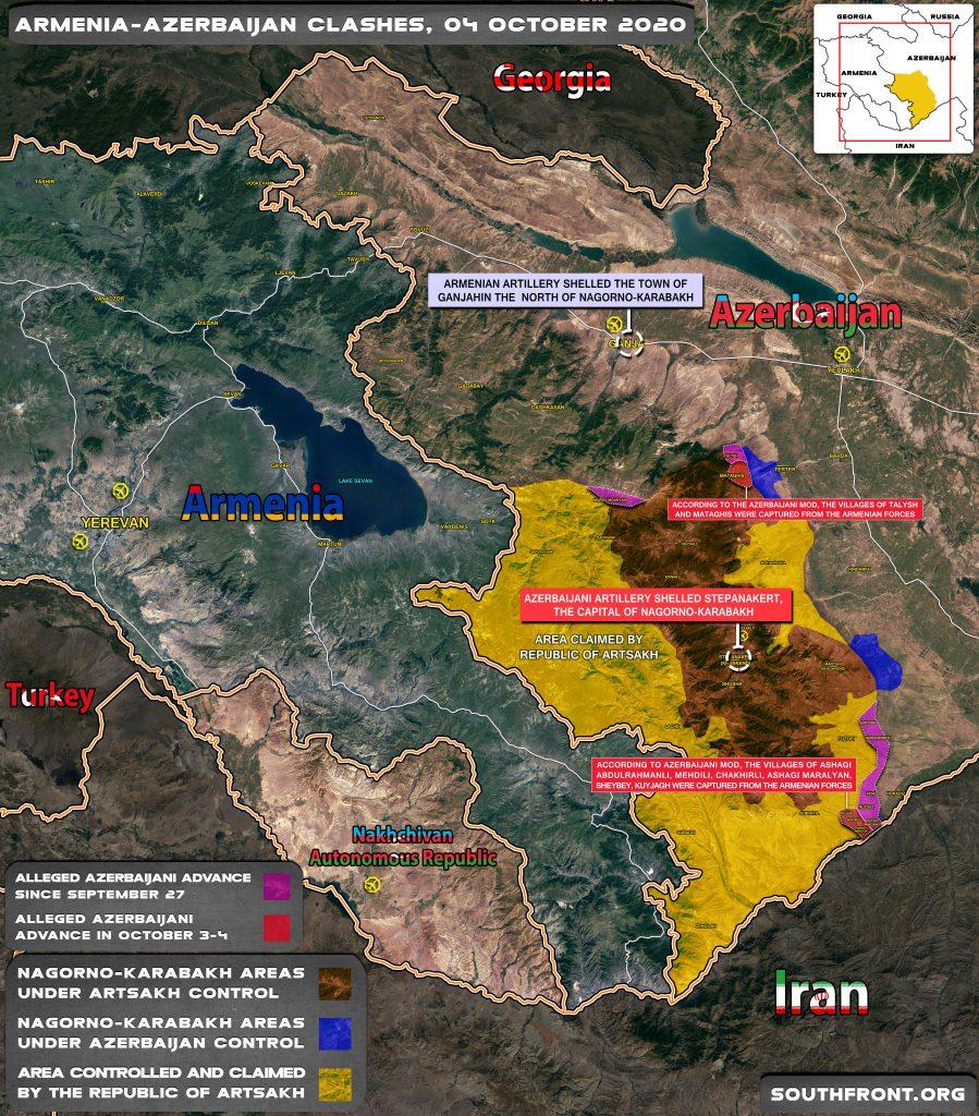 Alleged Azerbaijani Advance In Nagorno-Karabakh On October 4 (Map Update)
