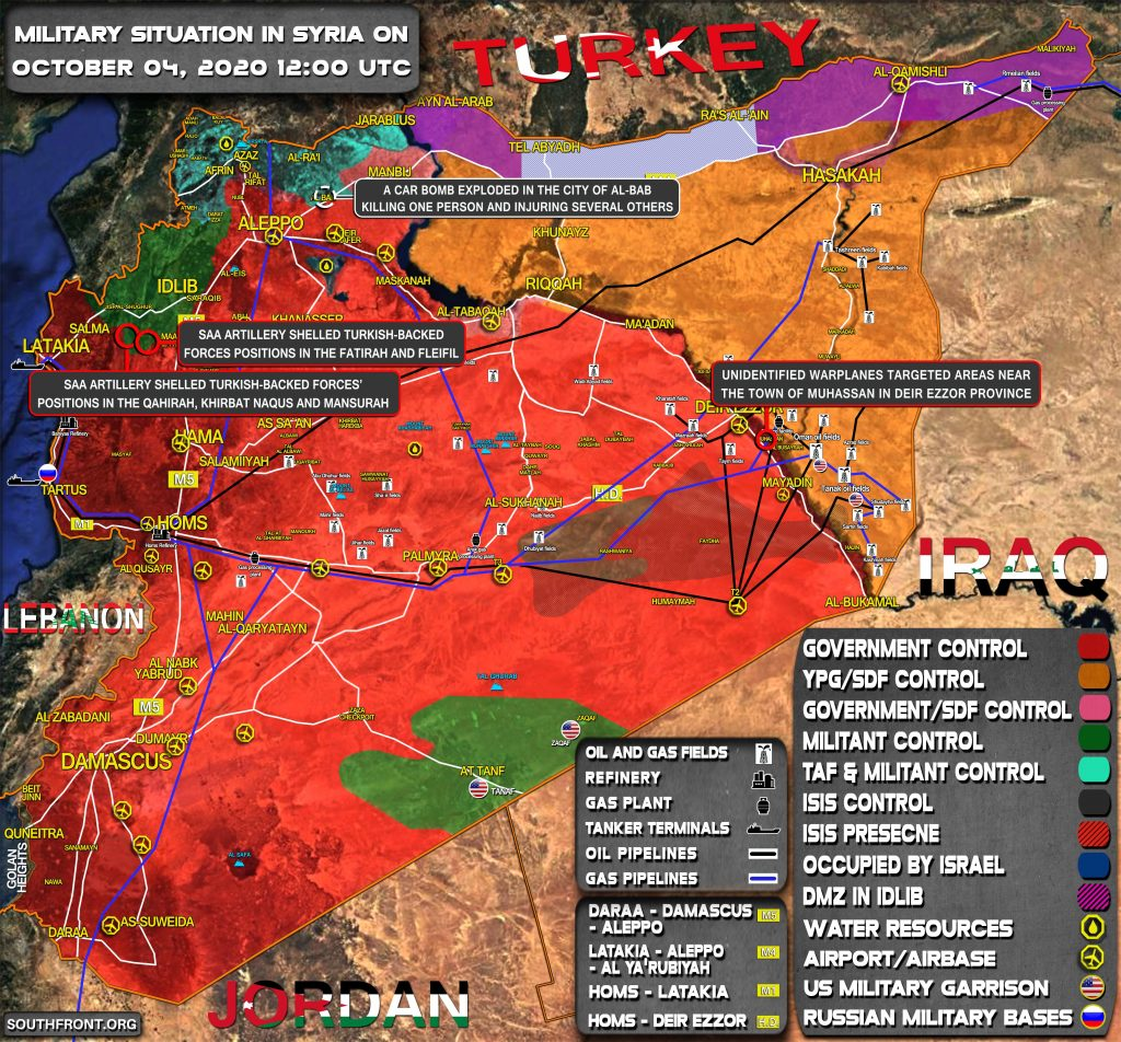 Military Situation In Syria On October 4, 2020 (Map Update)
