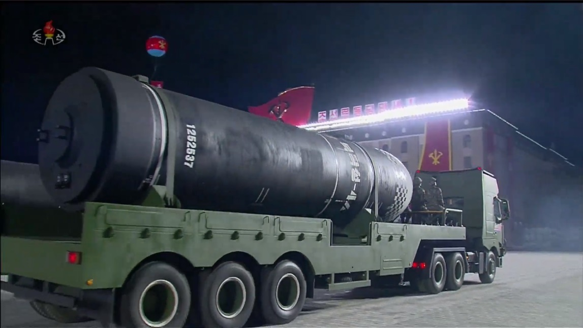 North Korea Showcases New ICBM At Military Parade Marking 75th WPK Anniversary