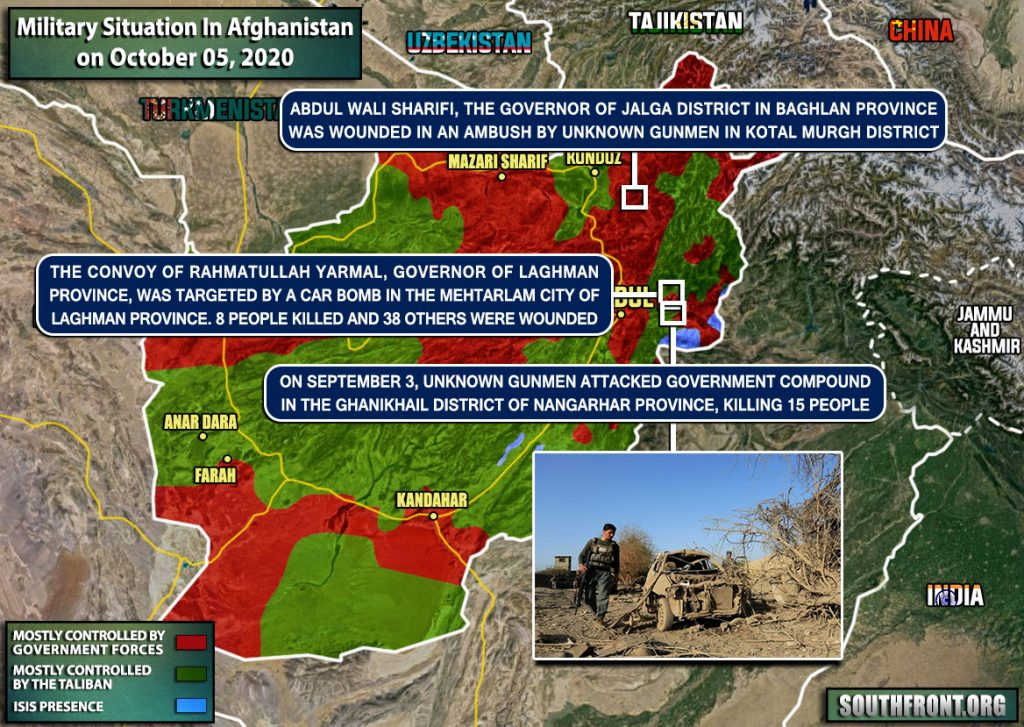 Military Situation In Afghanistan On October 5 (Map Update)