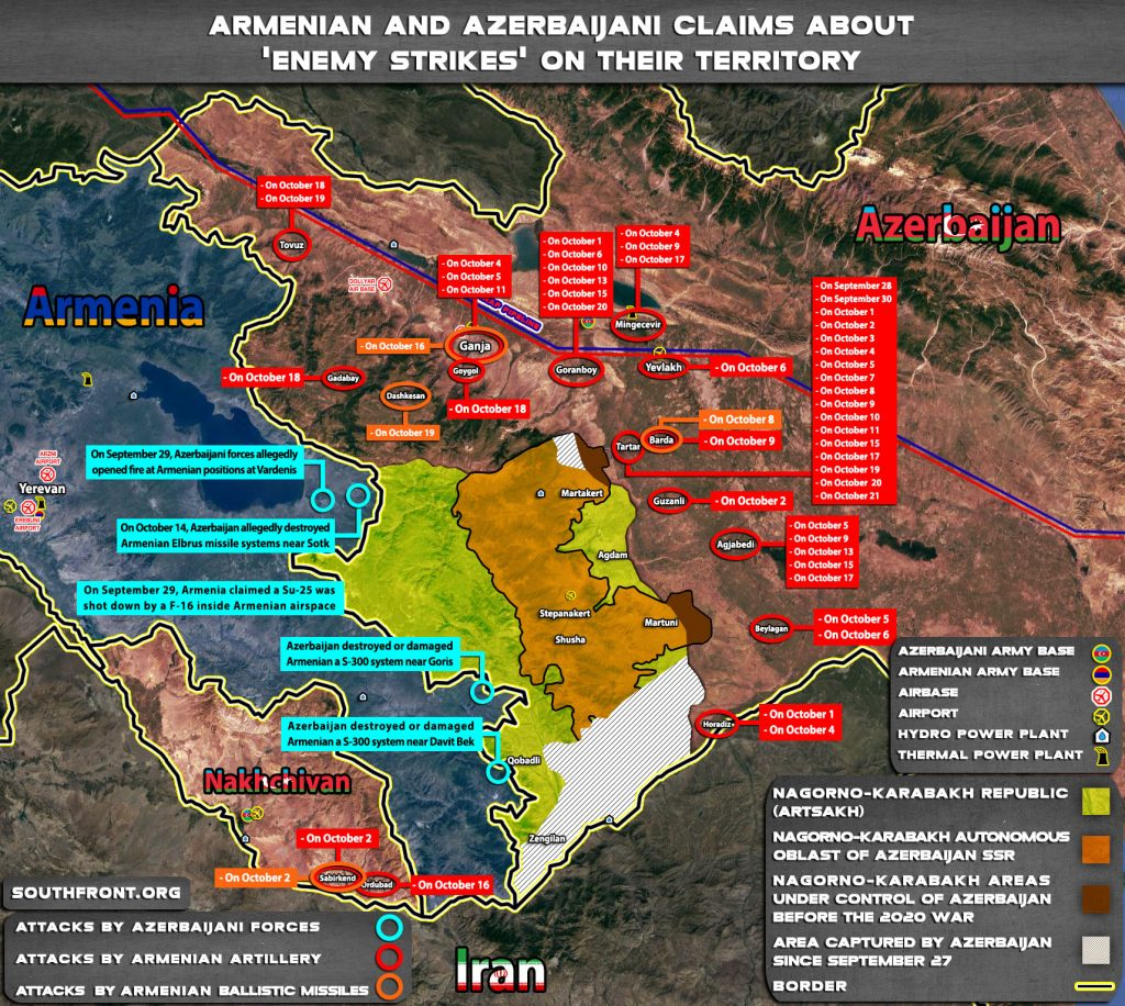 Brief Overview Of Recent Azerbaijani Strikes On Armenian Forces In Nagorno-Karabakh (Videos)