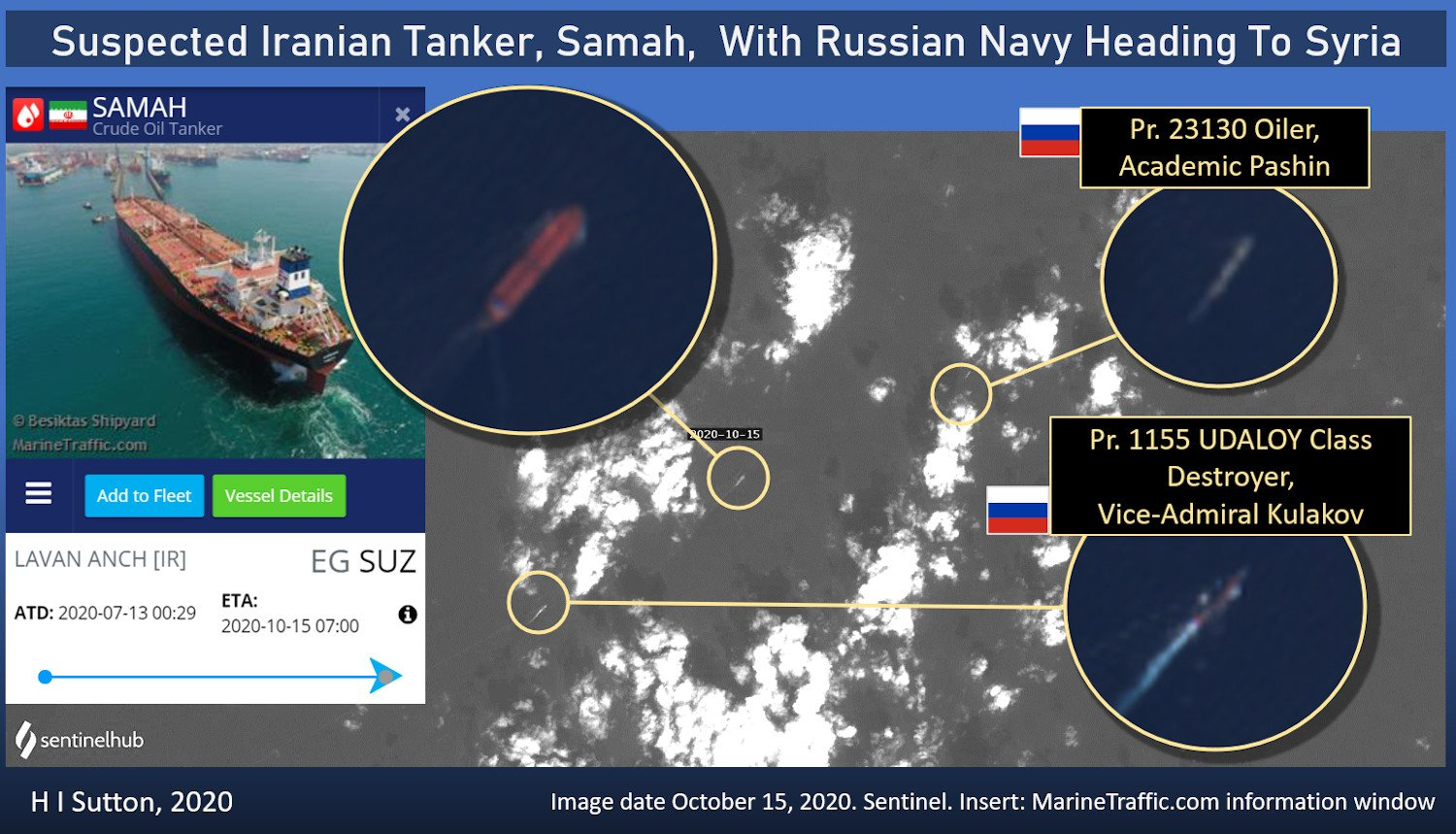 Russian Navy Warships Are Escorting Iranian Tanker En Route To Syria – Report