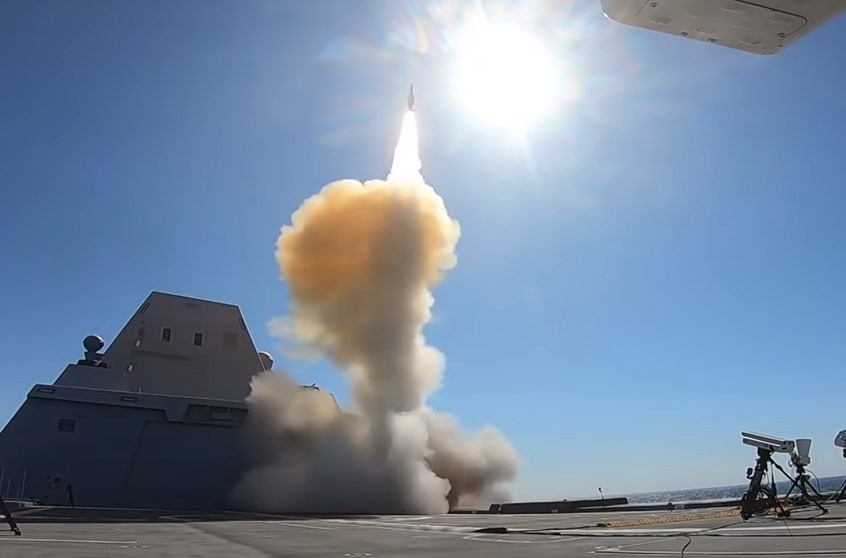 In Video: US Navy Stealth Destroyer Conduct First Missile Test