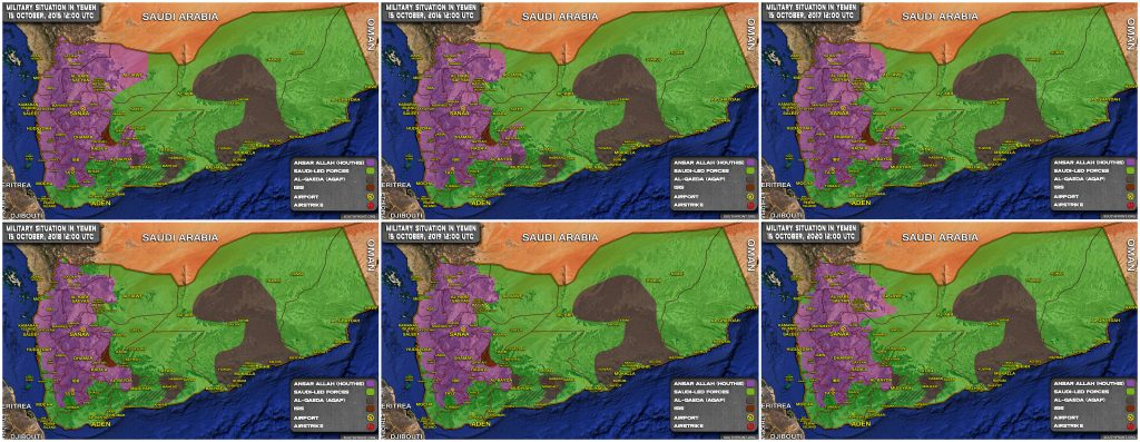 Map Comparison: Development Of Military Situation In Yemen In 2015-2020