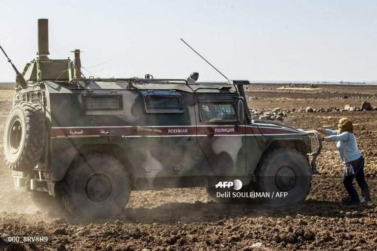Russian Patrol Blocked In Al-Hasakah, Media Accidentally There To Take Photos And Shoot Video