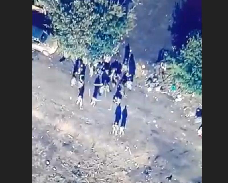 Azerbaijani Drone Films Strike On Armenian Troops In Karabakh