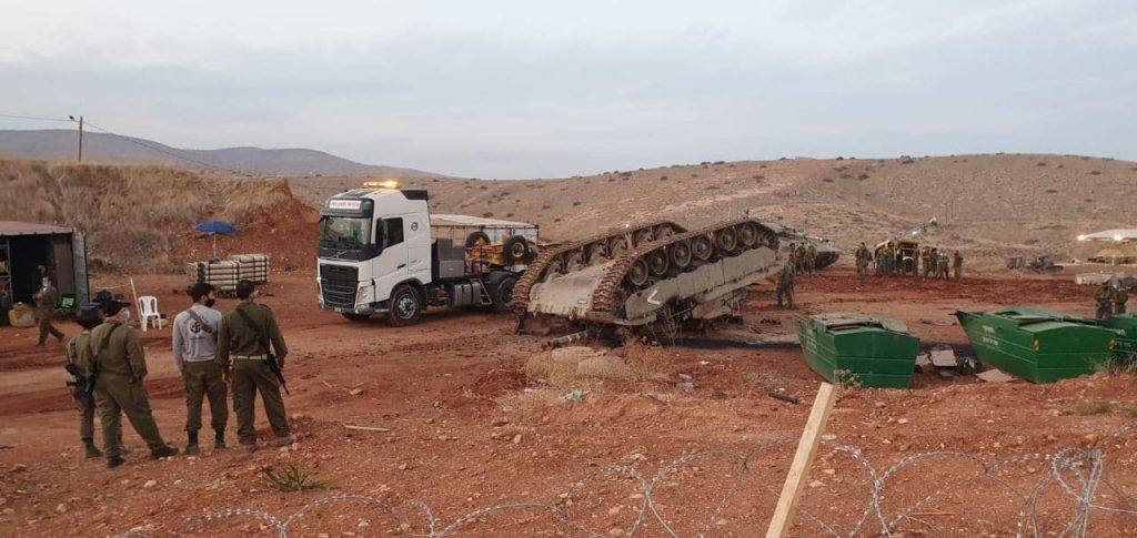 In Videos: Israeli Battle Tank Flipped Over Near Jordanian Border