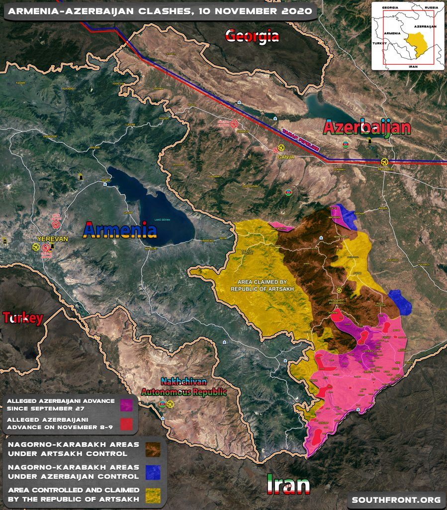 Map Update: Progress Of Azerbaijani Advance In Nagorno-Karabakh Ahead Of November 10 Ceasefire