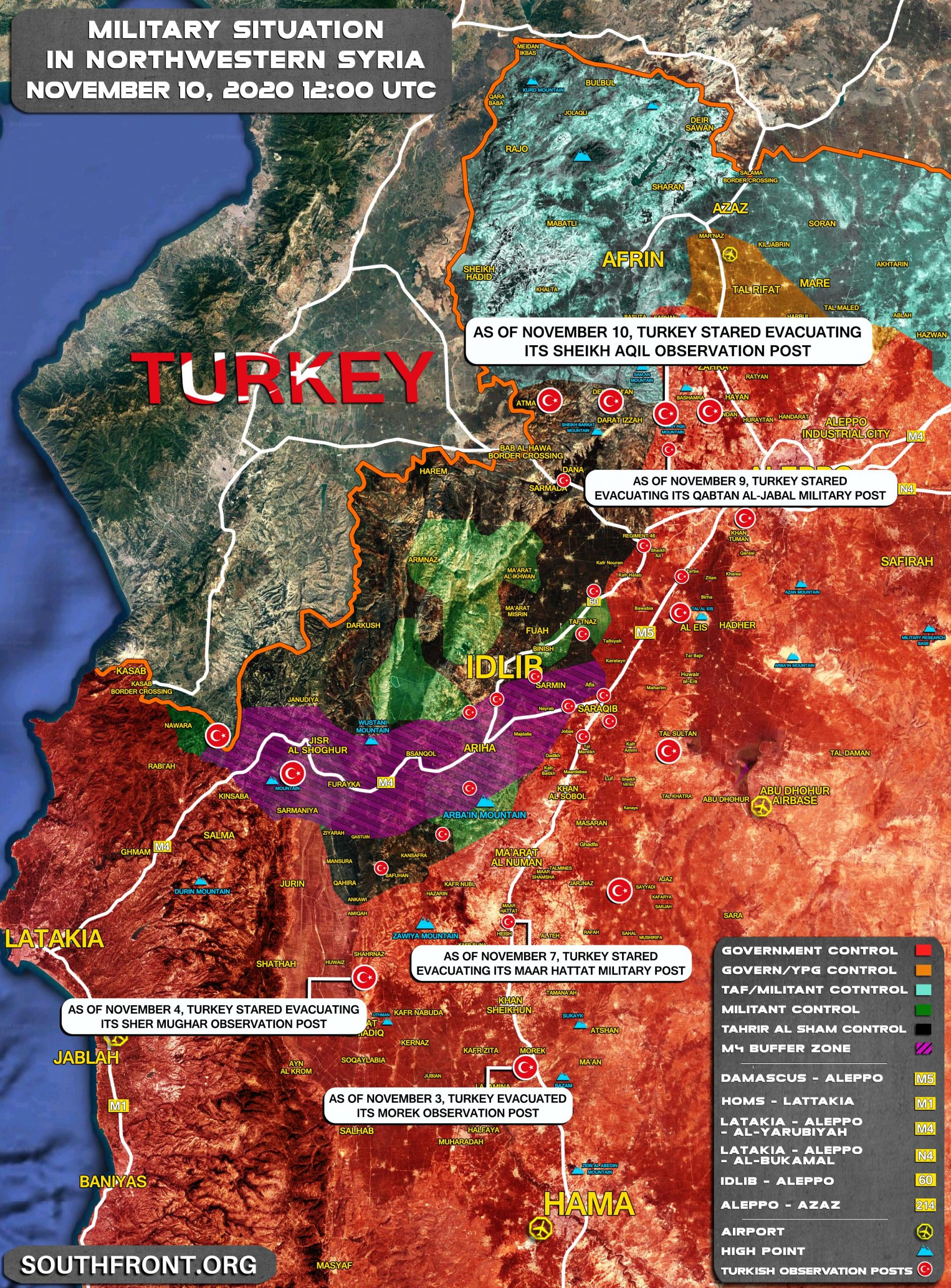 Map Update: Turkey Is Reducing Number Of Military Posts In Syria's Greater Idlib