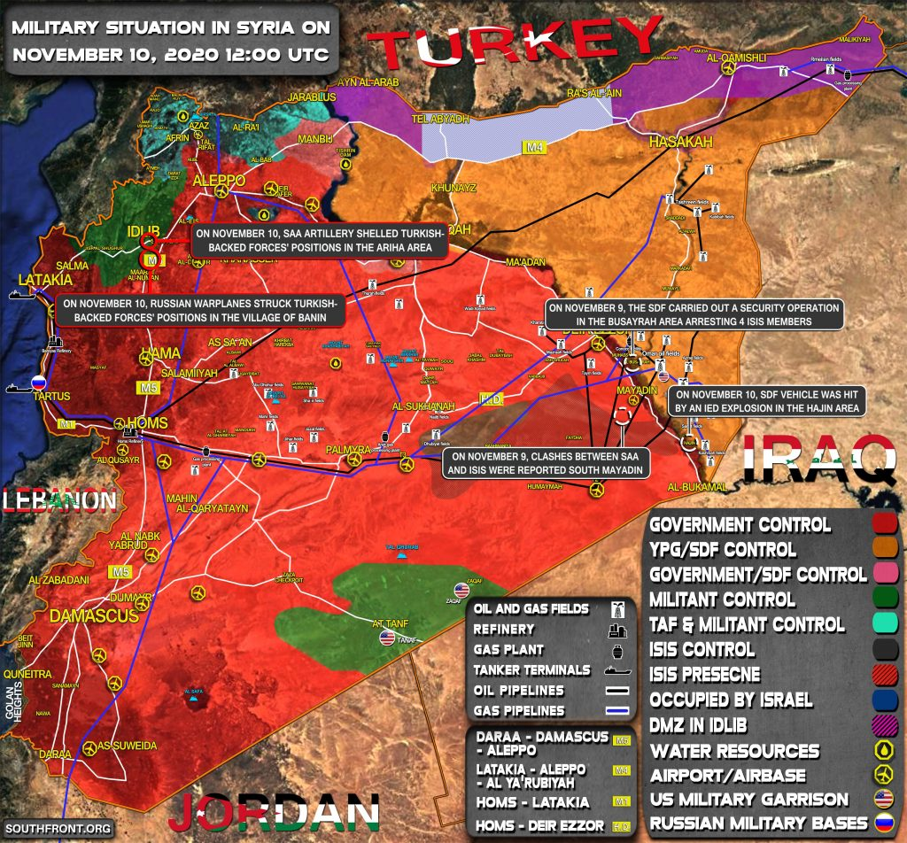 Military Situation In Syria On November 10, 2020 (Map Update)