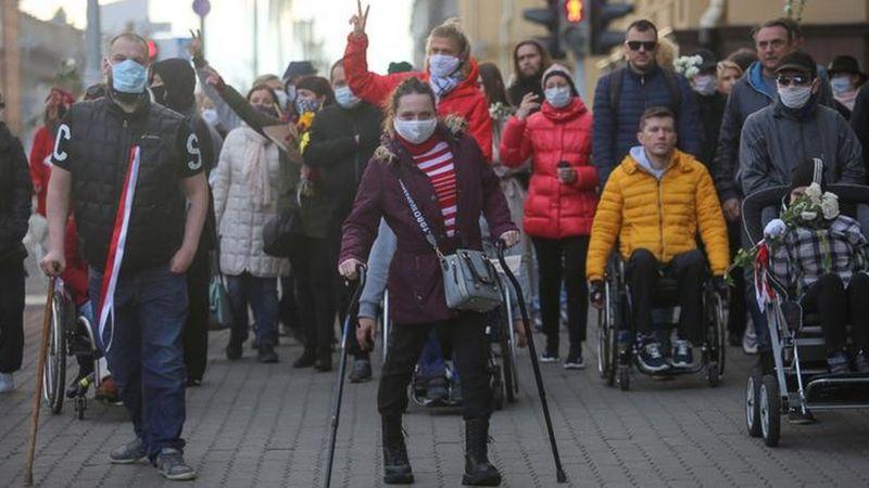 Elderly, Disabled, Women. Face Of Protests In Belarus
