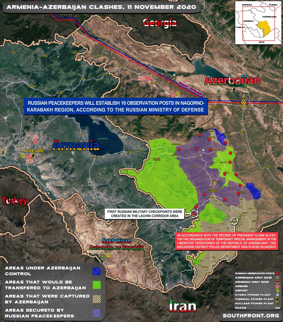 Map Update: Russia Is Establishing Observation Points In Nagorno-Karabakh