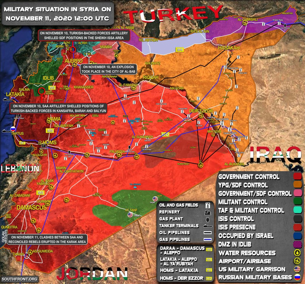 Military Situation In Syria On November 11, 2020 (Map Update)