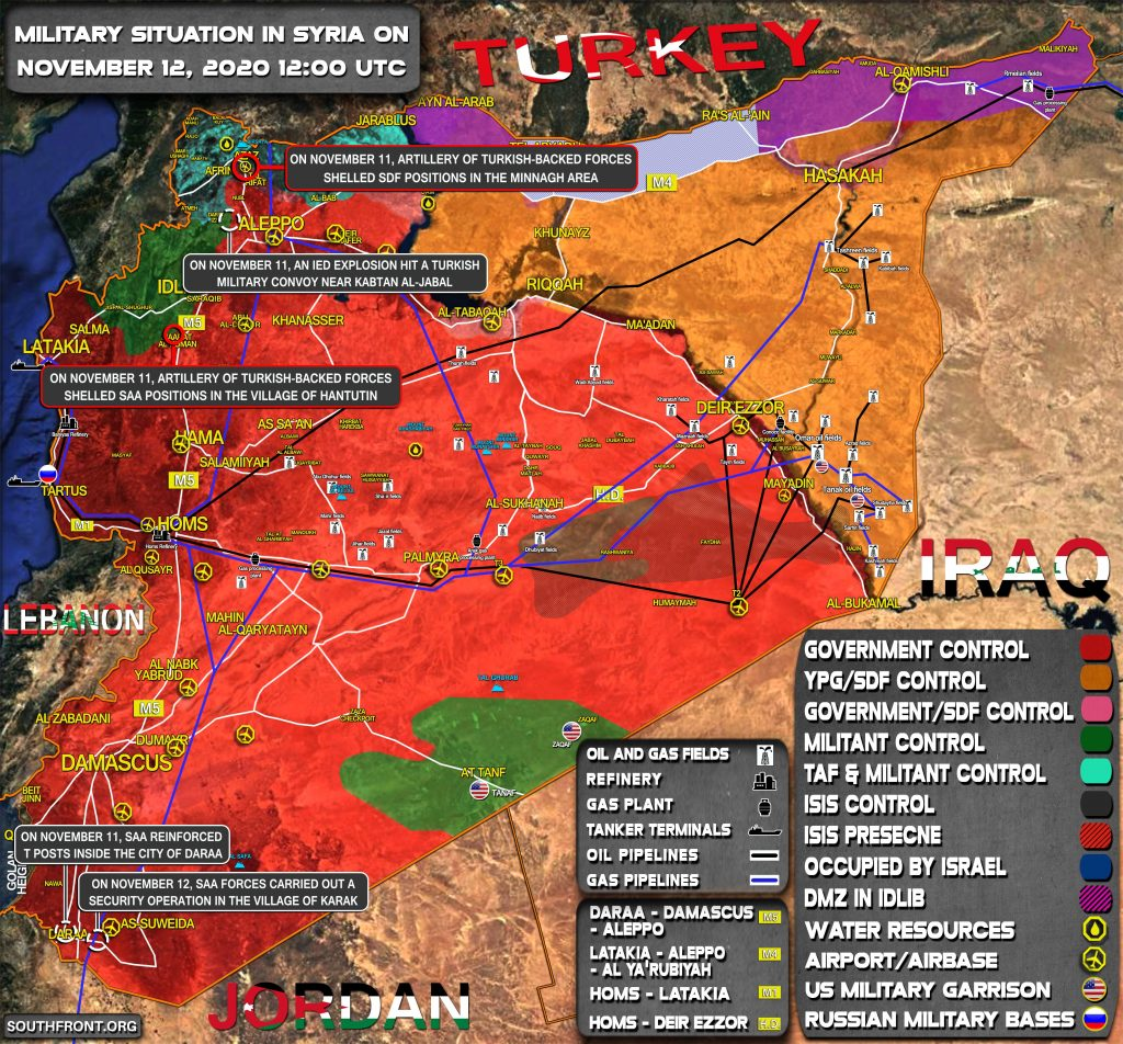 Military Situation In Syria On November 12, 2020 (Map Update)