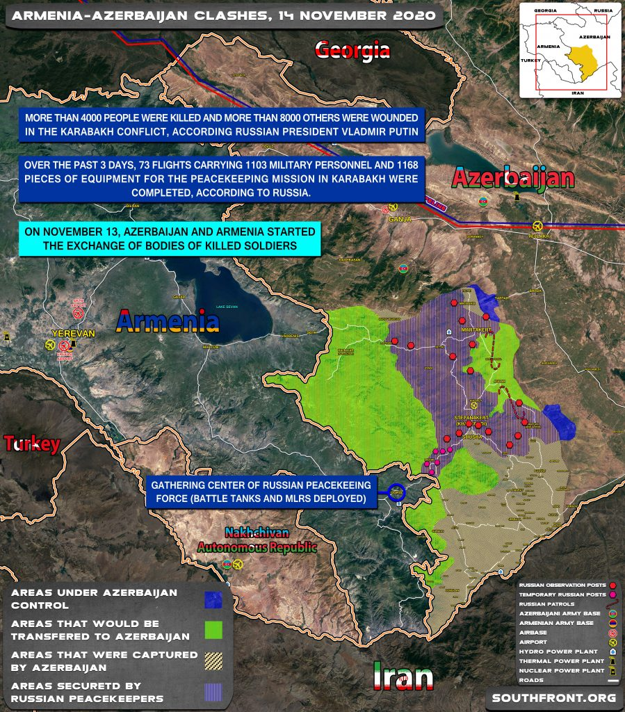 Map Update: Development Of Situation In Nagorno-Karabakh Region On November 14, 2020