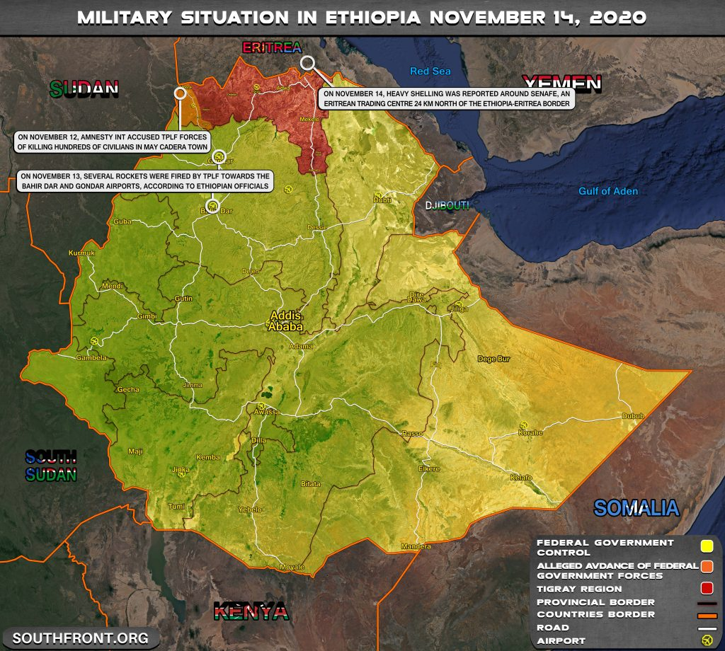 At Least Two Missiles Hit Ethiopian Airports As War In Tigray Widens