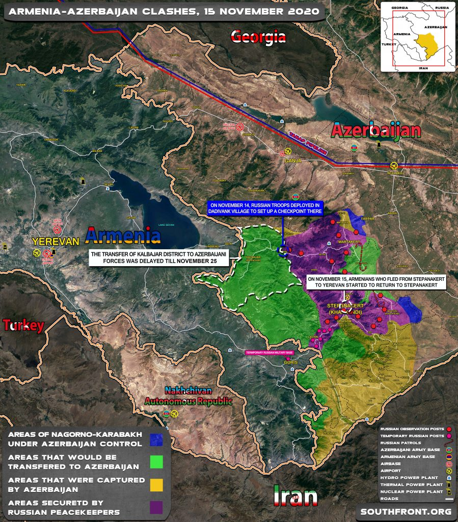 Map Update: Military Situation In Nagorno-Karabakh On November 15, 2020