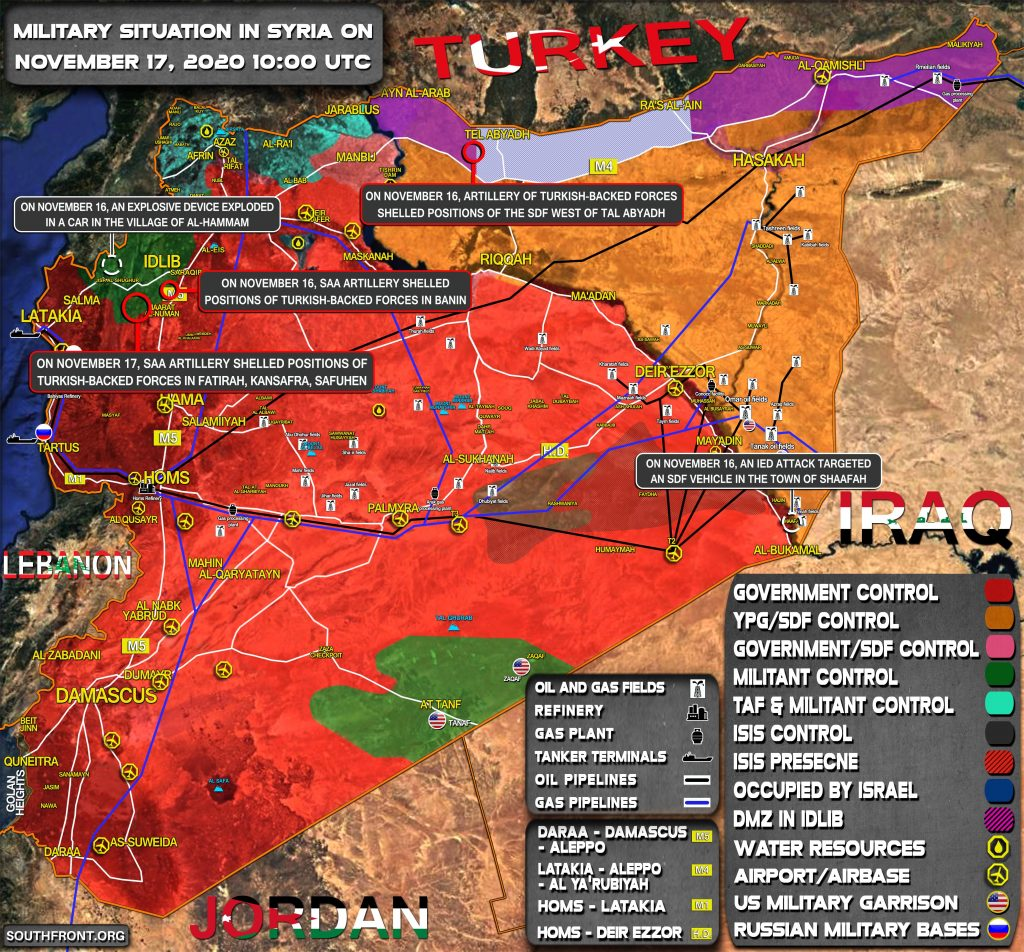Military Situation In Syria On November 17, 2020 (Map Update)