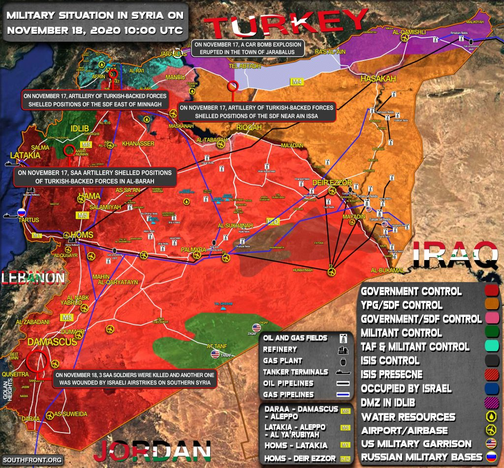 Military Situation In Syria On November 18, 2020 (Map Update)