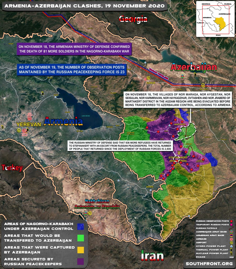 Map Update: Military Situation In Nagorno-Karabakh On November 19, 2020
