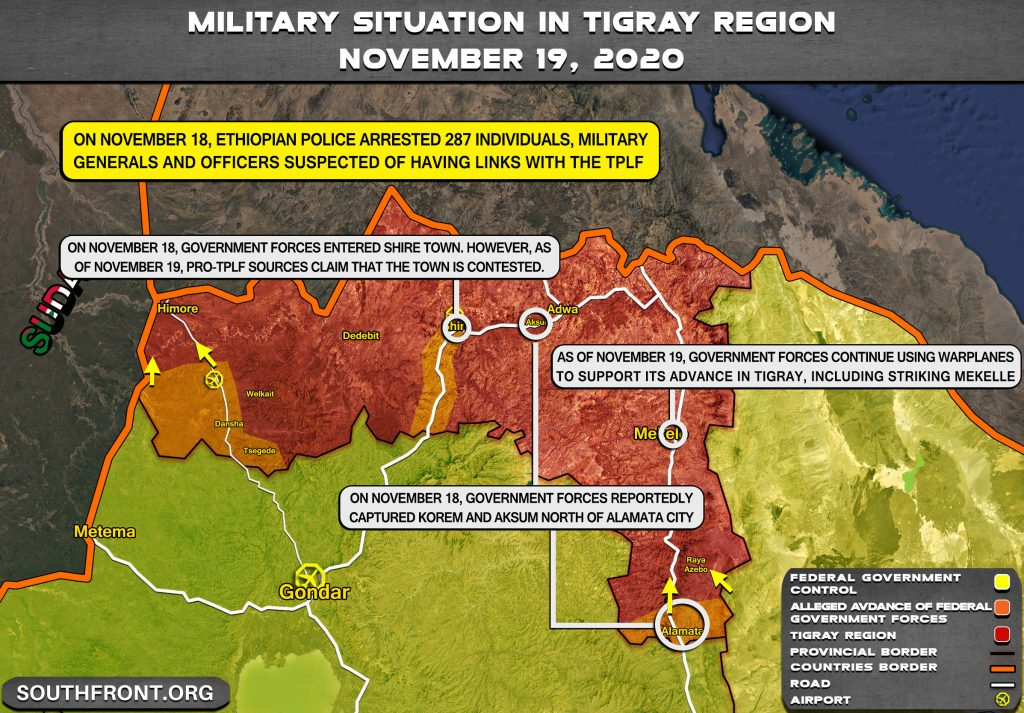 Ethiopian Military Advances On Capital Of Rebel Tigray Province (Map Update)