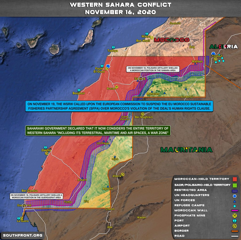 Polisario Front Continues Pushing Morocco's Wall, With No End Of Hostilities In Sight (Map Update)