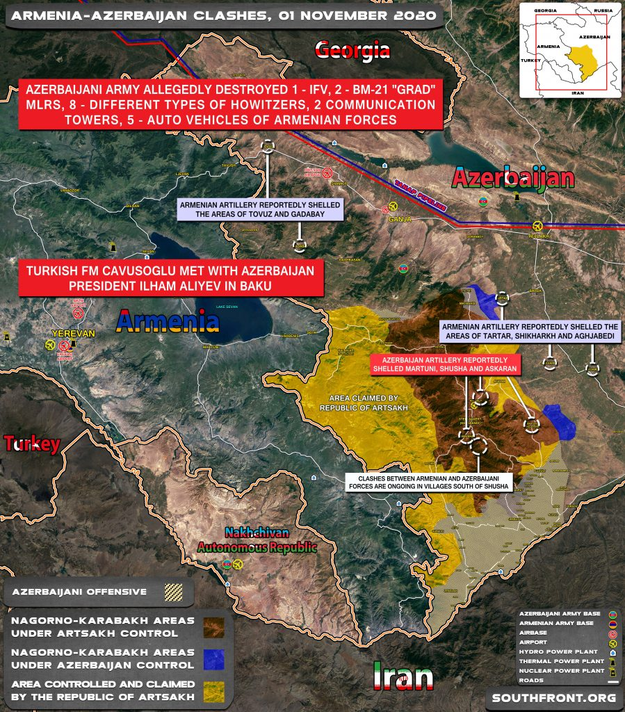Armenian-Azerbaijani War: Military Situation In Nagorno-Karabakh On November 1, 2020