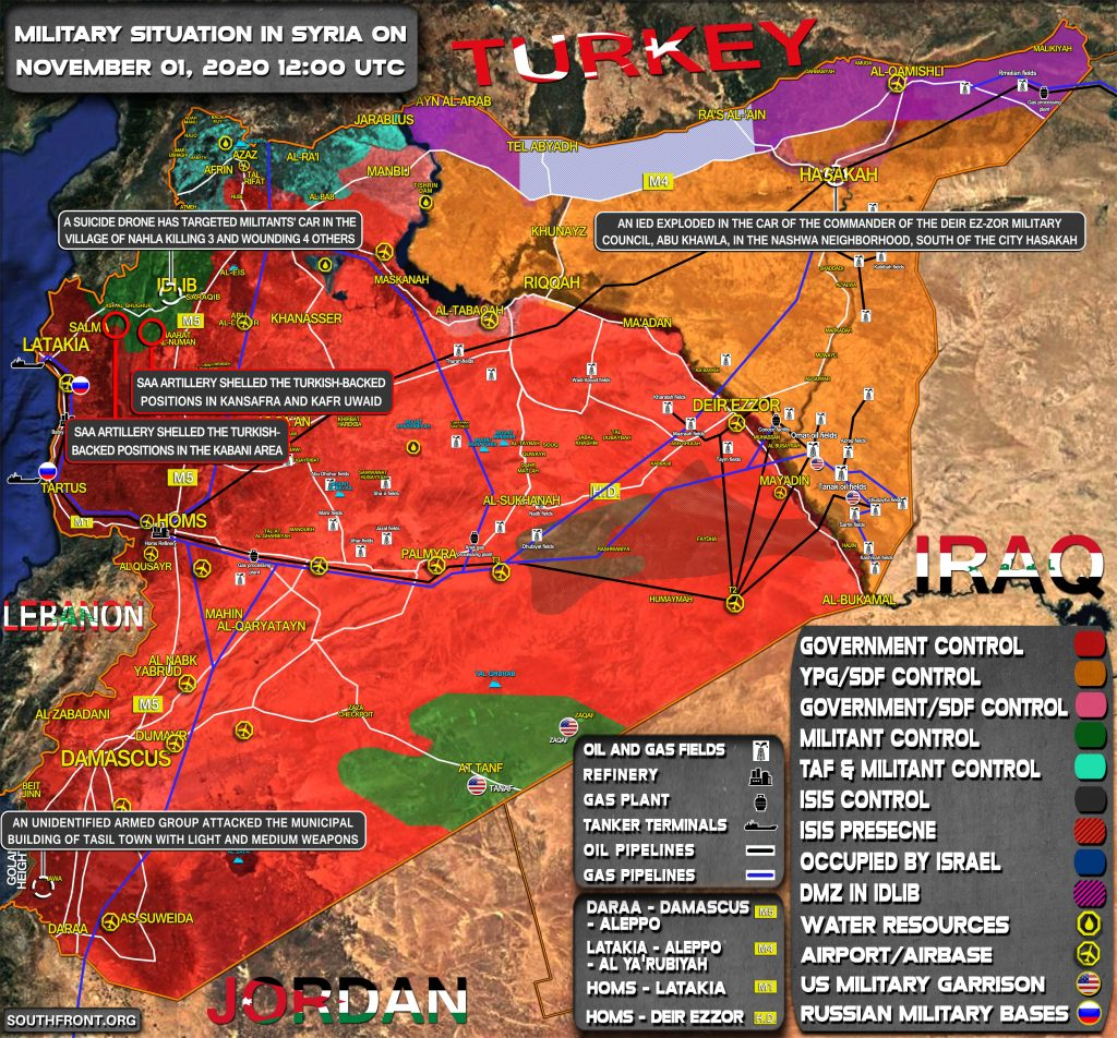 Military Situation In Syria On November 1, 2020 (Map Update)