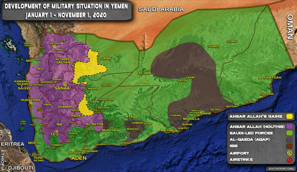 Map Comparison: Setbacks Of Saudi-Backed Forces In Yemeni War Since Start Of 2020