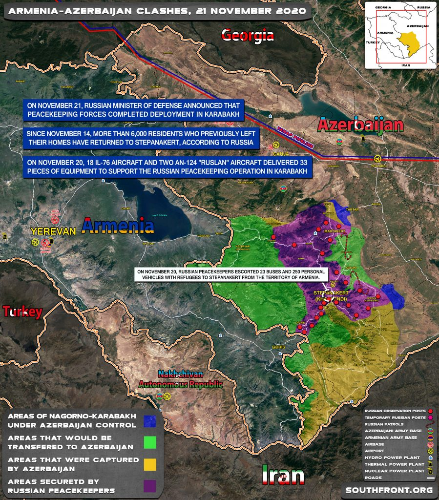 Map Update: Military Situation In Nagorno-Karabakh On November 21, 2020