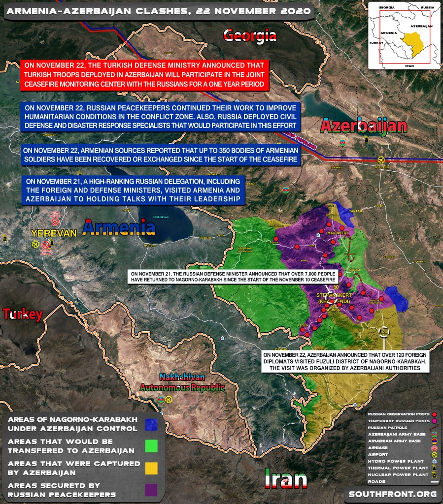 Map Update: Military Situation In Nagorno-Karabakh On November 22, 2020