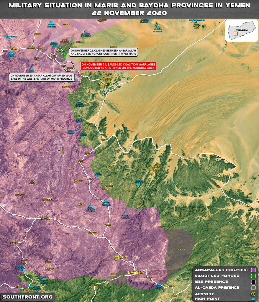 Map Update: Saudi-backed Forces Retreat From Maas Base In Yemen's Marib Province